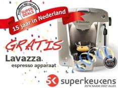Espresso apparaat twv €209 kado!