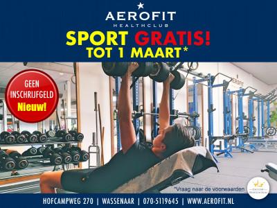 Sport gratis* tot 1 maart!