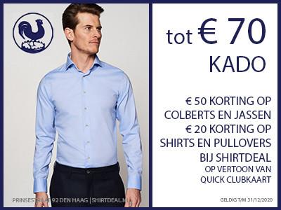Tot €70,- korting bij shirtdeal!