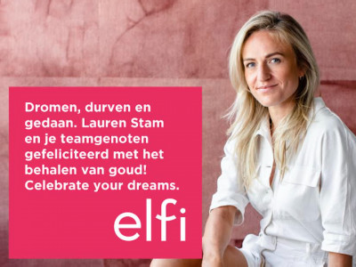 Gefelicteerd Lauren Stam!