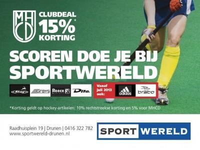 15% voordeel bij Sportwereld