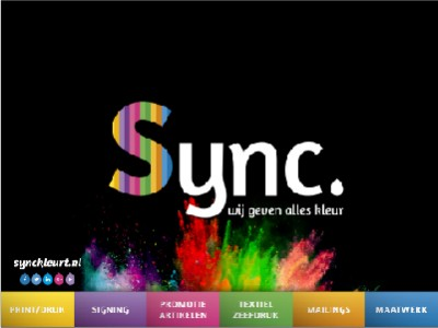 Sync kleurt
