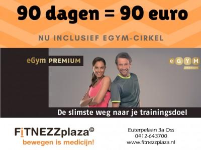 90 dagen = 90 euro