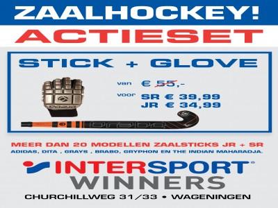Zaalhockeyactie