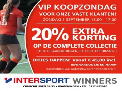 VIP koopzondag 1 September