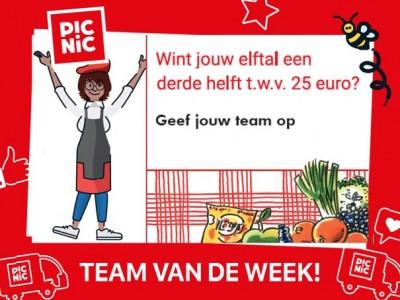 Word ook Picnic Team van de Week!